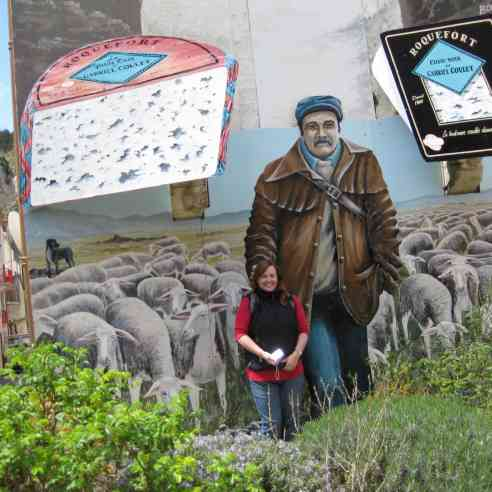 Seana with Roquefort mural
