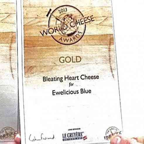 Ewelicious cheese won a gold medal at the 2013 World Cheese Awards.